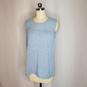Escada Light Blue Cashmere Sleeveless sweater 44